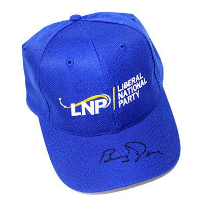 LNP Hat signed by Barnaby Joyce, Deputy Prime Minister of Australia