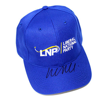 LNP Hat signed by Malcolm Turnbull, Prime Minister of Australia