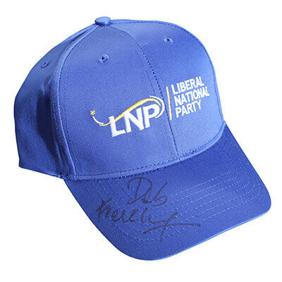 Deb Frecklington signed LNP hat